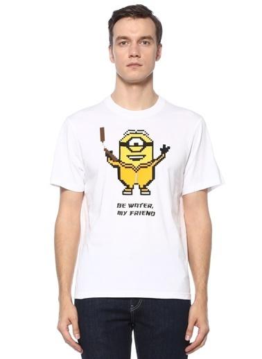 Mhrs Mhrs 101542328 8Bit by Mhrs 3D Figür Baskılı Erkek Basic Tshirt Beyaz